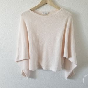 Joie Scoop Neck Long Sleeve Sweater Pink Size XS